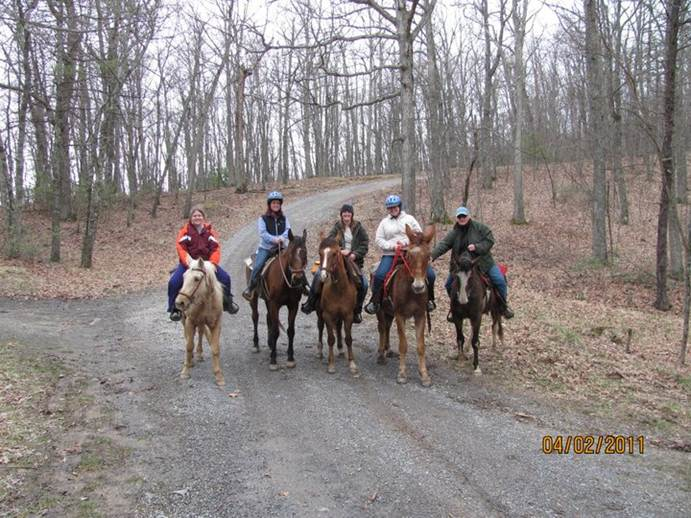 Members on a Trail Ride